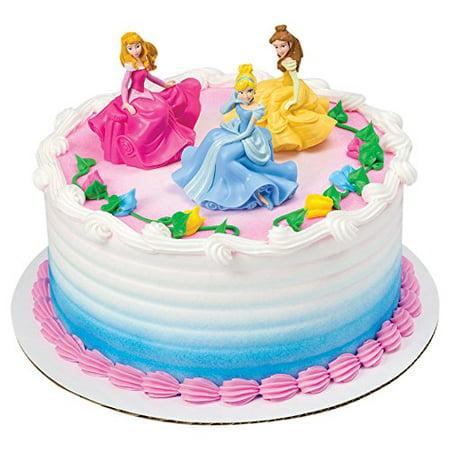 Disney Princess Once Upon A Moment DecoSet Cake Topper, 3-Piece set includes Disney Princess figurines Cinderella, Belle and Aurora each 3