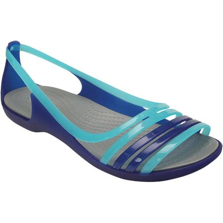 5f40eb3500758 Crocs - Women s Crocs Isabella Huarache Flat - Walmart.com