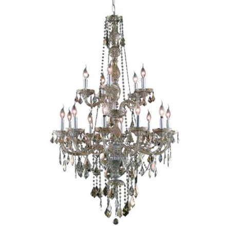 UPC 842814130357 product image for Elegant Lighting Value Verona 15LT Golden Teak Chandelier - V7815G33GT-GT/SS | upcitemdb.com
