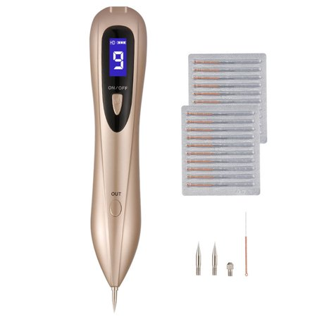 Mole Portable Rechargeable Mole Removal Pen Kit For Face Body Self Black Raised Mole Skin Tag Wart Dark Sun Age Spot Blemish Tattoo Security