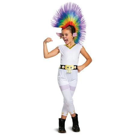 Make Plug Socket Halloween Costume (Trolls Movie Girls Classic Barb Rainbow Halloween Costume with)