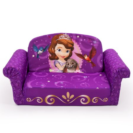 Marshmallow Furniture, Children's 2 in 1 Flip Open Foam Sofa, Disney's Sofia the First, by Spin (Marshmallow Fun Furniture Flip Open Sofa Spiderman)