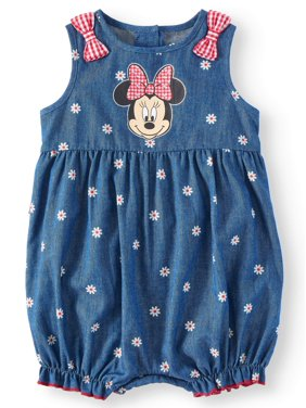 f89a38fe53ab8 Product Image Baby Girl Minnie Mouse Romper (Baby Girl)