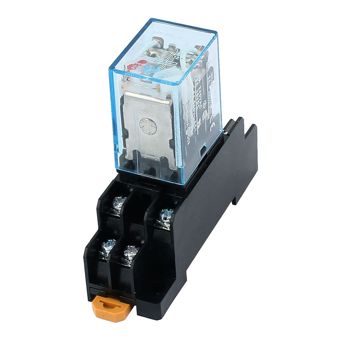 AC 24V Coil 8 Terminals DPDT DIN Rail  Electromagnetic Power Relay w Base MY2N-J - image 1 de 4