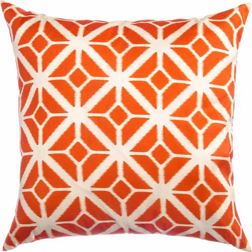 "Softline Thea 20"" x 20"" Decorative Pillow, Tangerine"