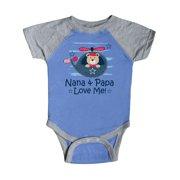 Nana and Papa Love Me Grandson Gift Infant Creeper