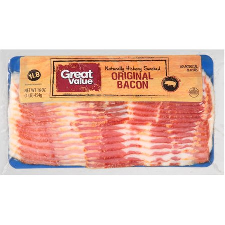 Great Value Original Bacon 16 Oz Walmart Com