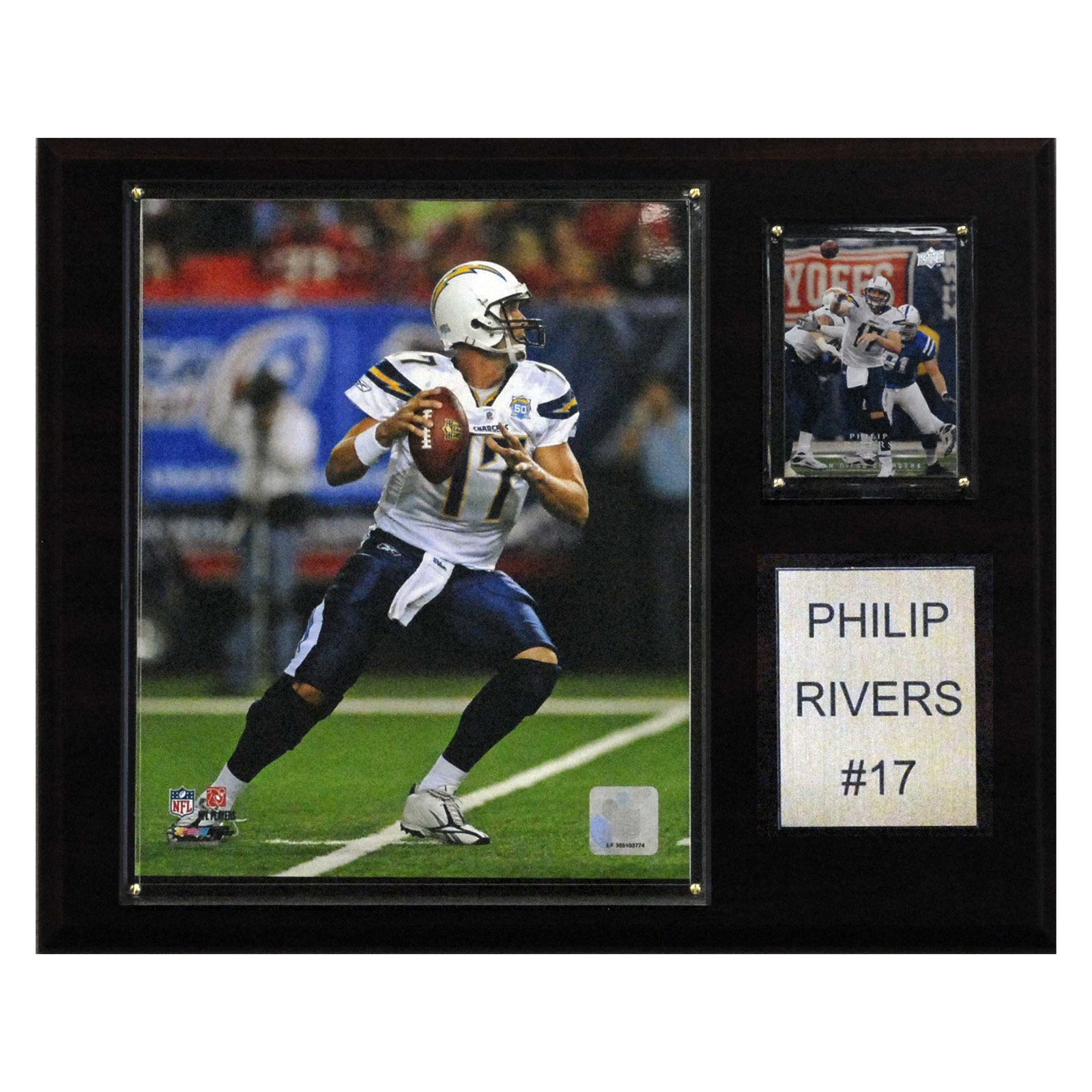 C&I Collectables NFL 12x15 Philip Rivers San Diego Chargers Player Plaque