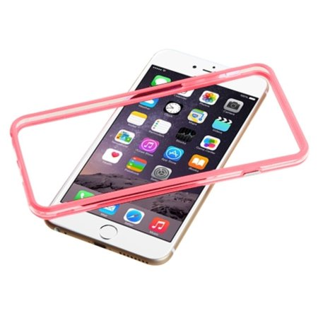 "Insten Rubber Gel Frame Bumper Case Cover for iPhone 6s Plus / 6 Plus 5.5"" - Pink/Clear - image 3 of 4"