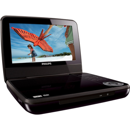 "Philips 7"" Portable DVD Player, PET741B/37"