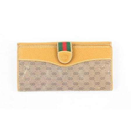208d22a95b4a12 GUCCI - Gucci Monogram Web Gg Wallet 6gr1115 Beige Clutch - Walmart.com