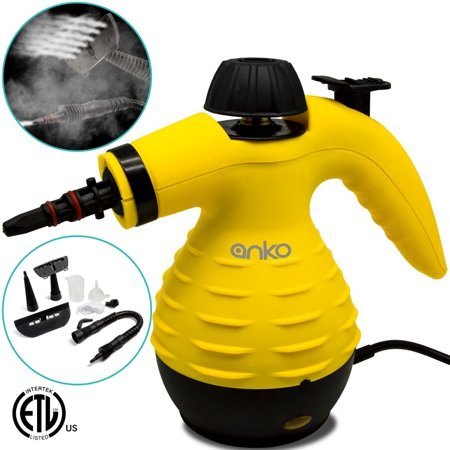 Hand Stem - Handheld Steam Cleaner, ANKO Multi-Purpose Pressurized Steam Cleaner with 6 Different Attachments and 3 Additional Accessories. Used to Clean the Doors, Carpets, Curtains, Kitchen Surface and etc