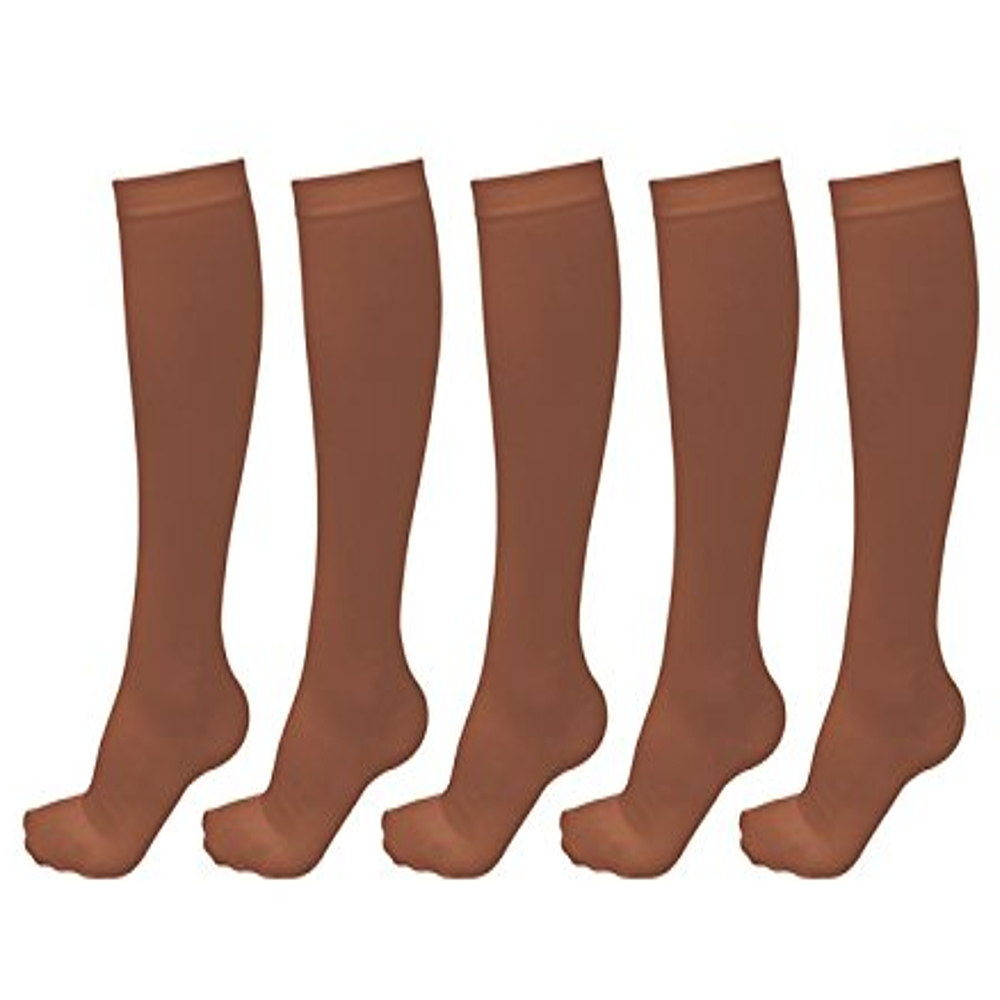 Moisture-wicking Compression Socks For Women & Men(5 Pack)-(Black,M)