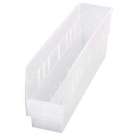 4 Clear Shelf Inlay - Quantum Storage Systems 40 lb Capacity, Shelf Bin, Clear QSB203CL