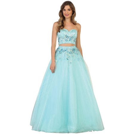 TWO PIECE SWEET 16 PARTY BALL GOWN Two Piece Bridesmaid Gowns