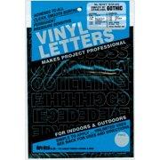 "Permanent Adhesive Vinyl Letters & Numbers 1"" 183/Pkg-Black"