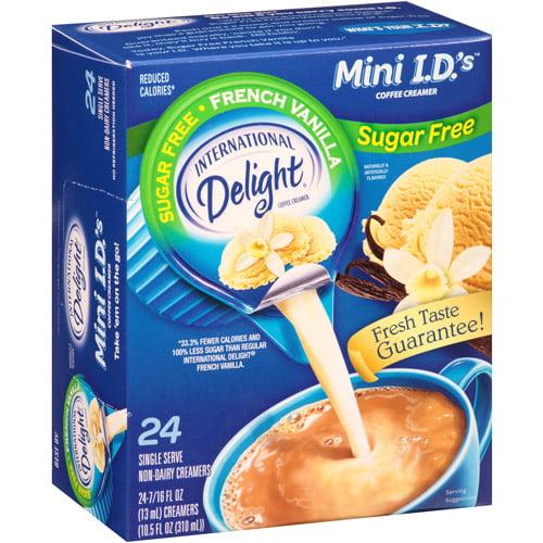International Delight Sugar Free French Vanilla Mini I.D.'s Coffee Creamer, 0.4375 fl oz, 24 count