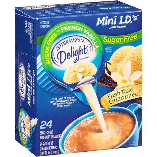 International Delight Sugar Free French Vanilla Mini I.D.'s Coffee Creamer, 0.4375 fl oz, 24 count