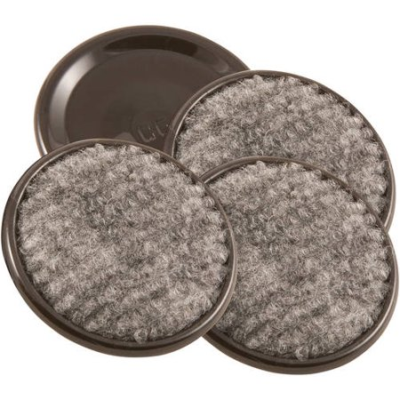 Waxman Consumer Group 4291895N 1-5/8″ Gray Round Carpet Caster Cup, 4 Count