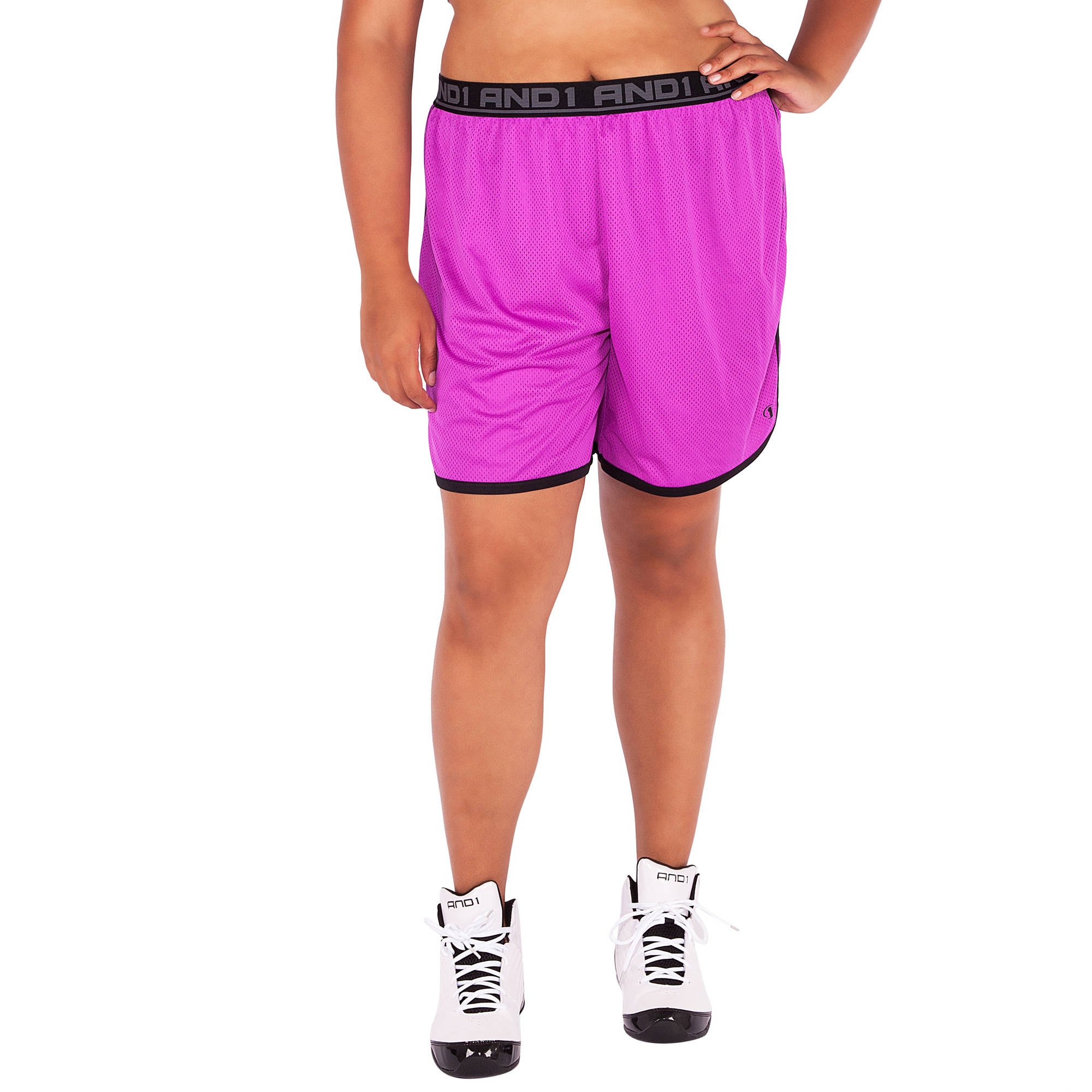 AND1 Women's Plus-Size Court Mesh Game Short