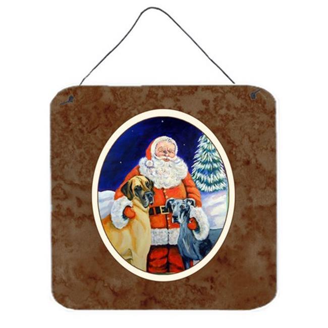 Carolines Treasures 7232DS66 Santa Claus with Great Dane Wall or Door Hanging Prints - image 1 of 1
