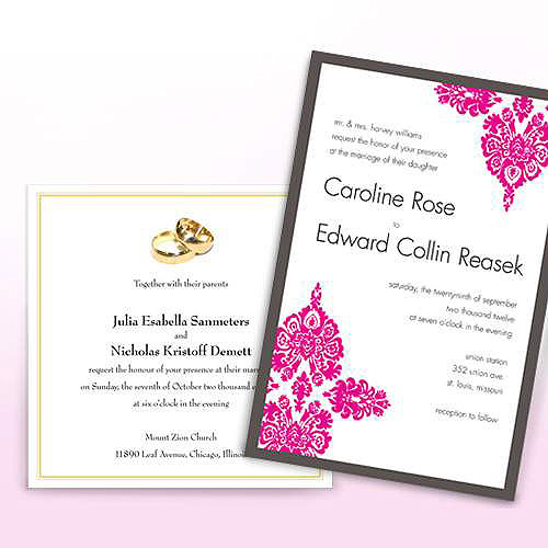 personalized wedding invitations  walmart, invitation samples