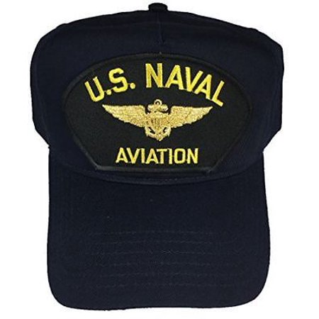 US NAVAL AVIATION W/ AVIATOR WINGS BADGE HAT CAP PILOT NAVIGATOR VETERAN USMC (Naval Aviator Wings)