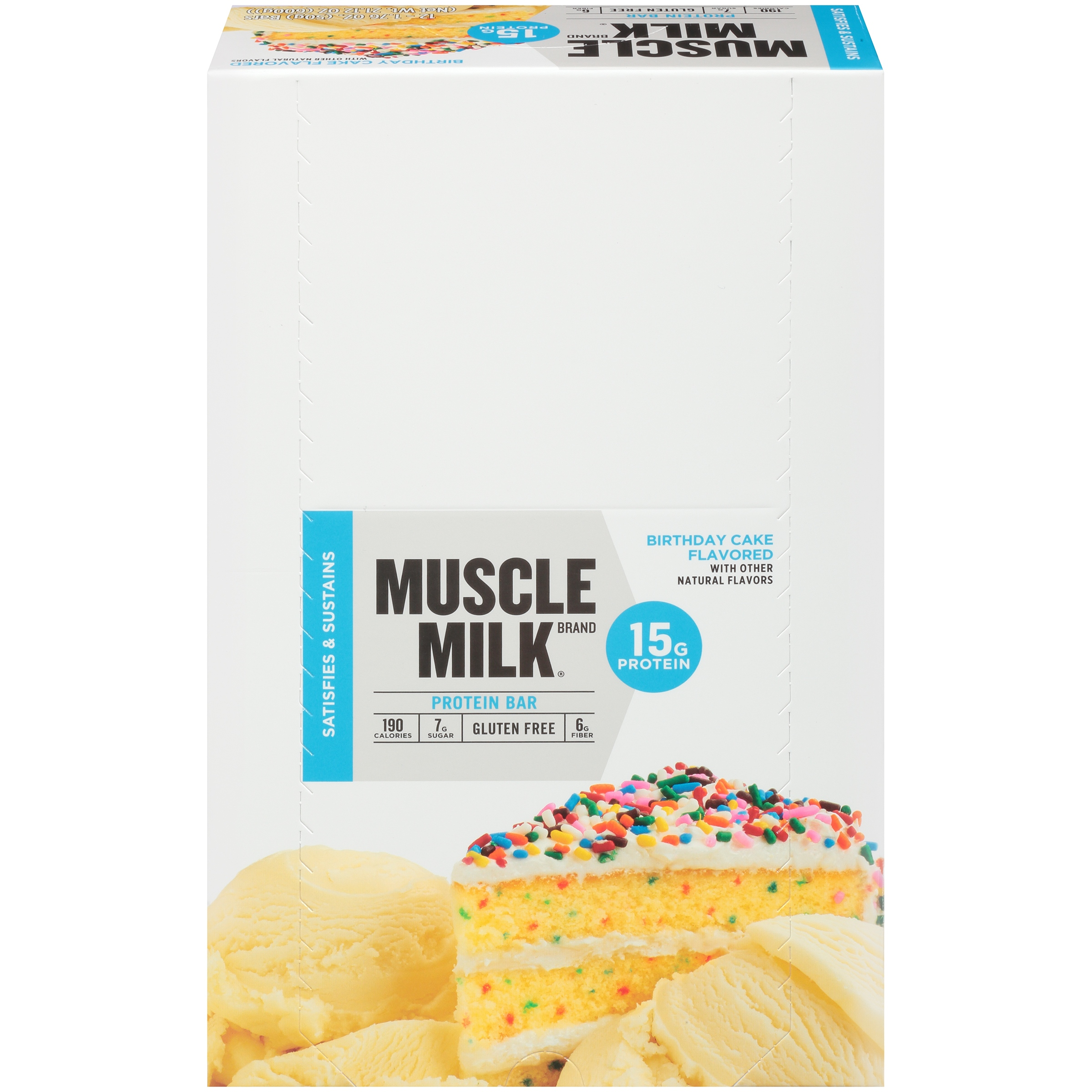Muscle Milk® Birthday Cake Flavored Protein Bars 12-1.76 oz. Bars ...