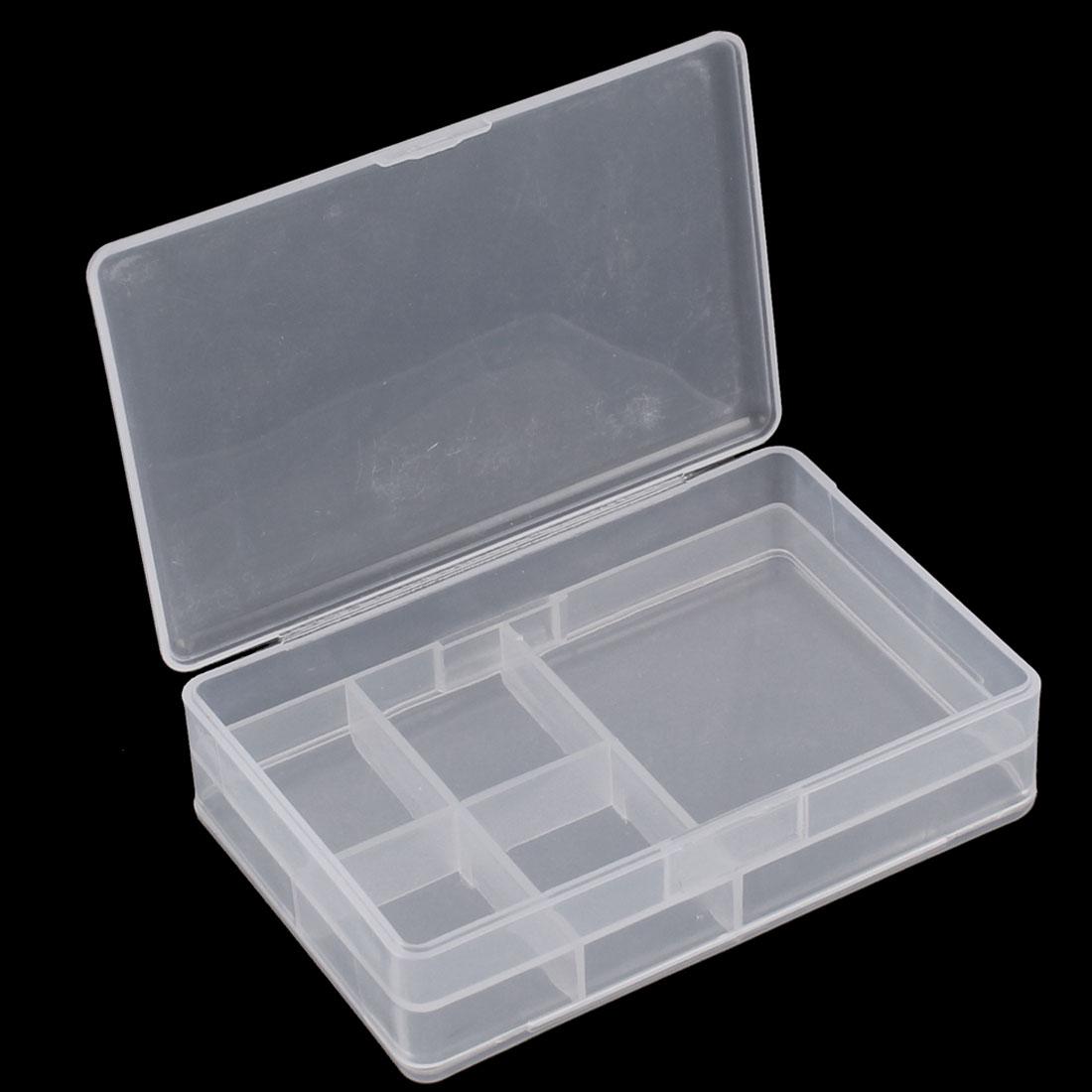 Plastic Dual Layers 5 Compartments Storage Case Box Organizer Conatiner - image 2 of 3
