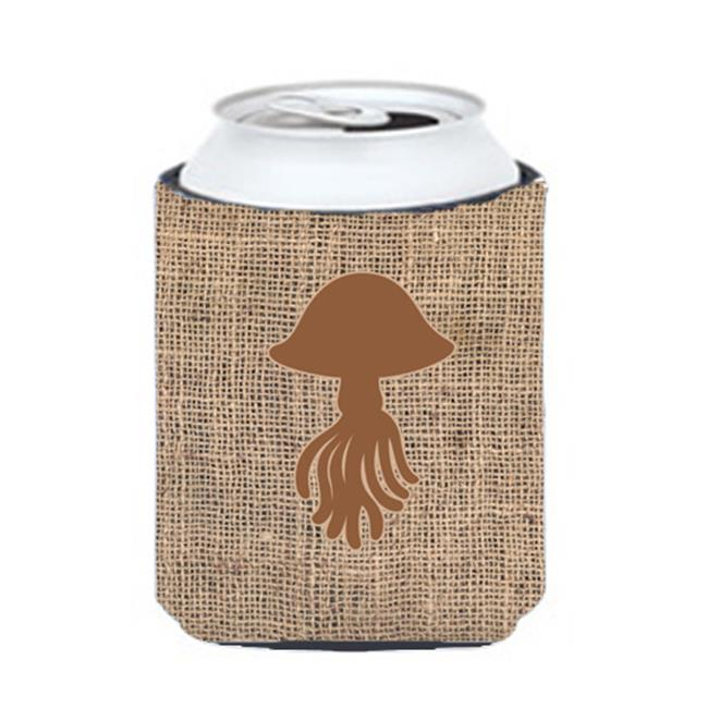 Jellyfish Burlap And Brown Can Or Bottle  Hugger - image 1 of 1