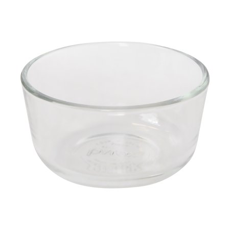 - Pyrex 7202 1-Cup Round Clear Glass Storage Bowl