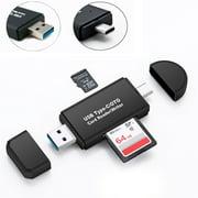 TSV USB C 3.0 Type C to USB3.0 OTG HUB Adapter USB/TF/SD Micro SD Memory Card Reader