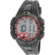 Marathon Men's Digital Full-Size Watch, Black Resin Strap