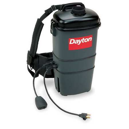 "DAYTON Backpack Vacuum, 4Hz - Aircraft Cleaning, CFM 65, SP 6""   4TR10"
