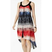 af623f07 Product Image SLNY NEW Black Womens Size Large L Chiffon Tie-Dye High-Low  Shift Dress