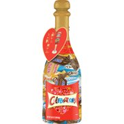 CELEBRATIONS Chocolate Valentine's Day Variety Mix Candy Bars, 9.52 Oz Champagne Bottle ( DOVE, TWIX, SNICKERS, BOUNTY & MILKY WAY)