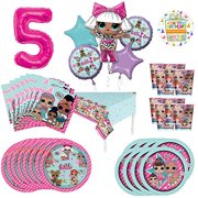 L.O.L. Surprise! Birthday Party Supplies 8 Guest Decoration Kit and Balloon Bouquet