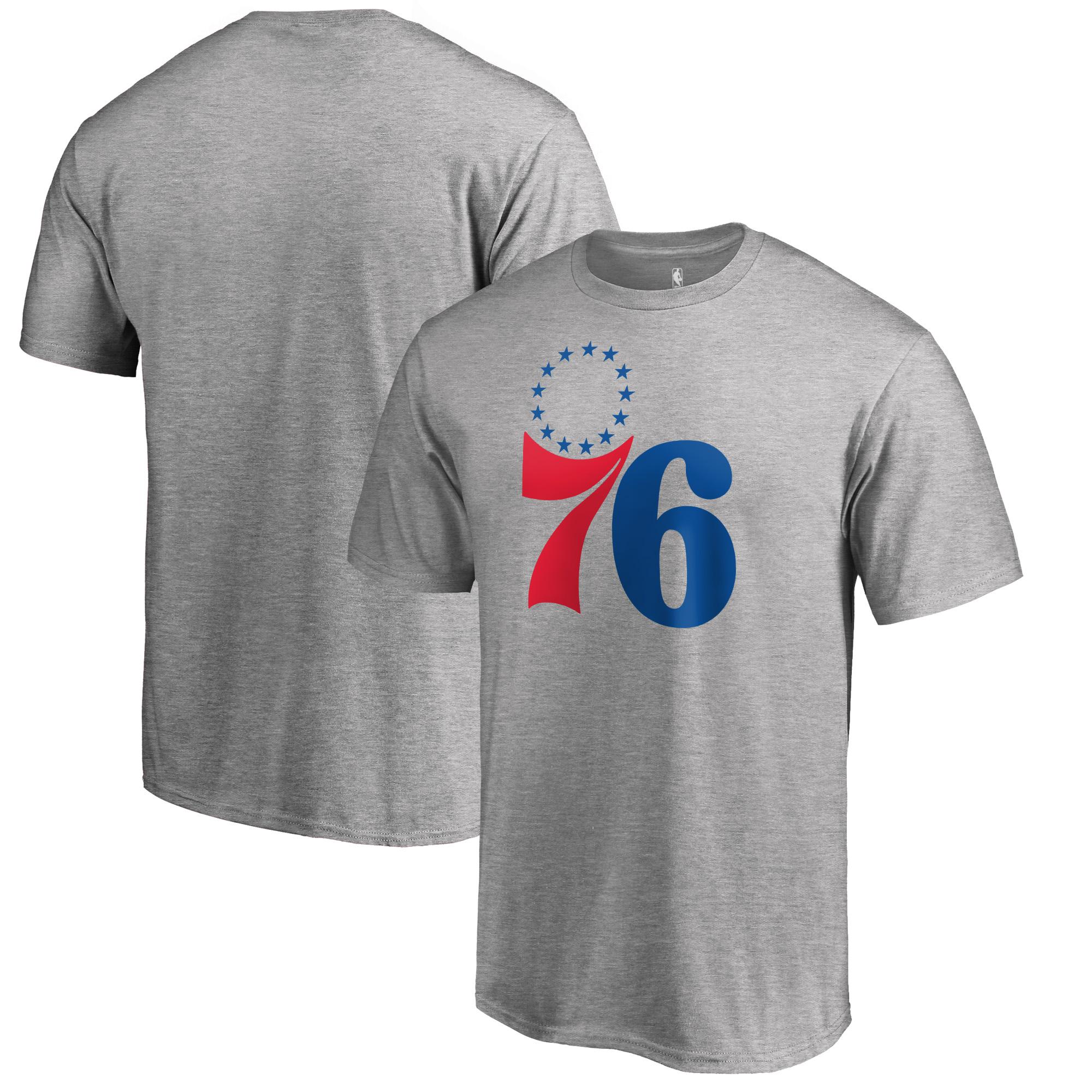 Philadelphia 76ers Fanatics Branded Secondary Logo T-Shirt - Heather Gray