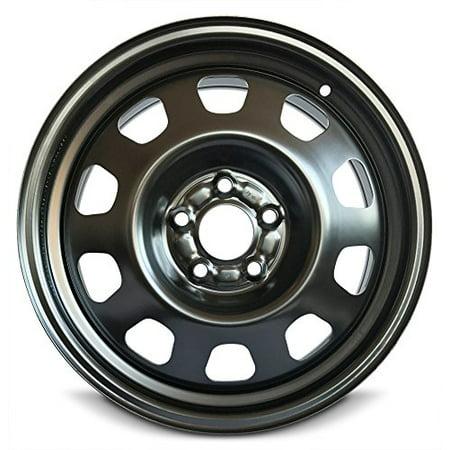 New Dodge 17x6.5 Chrysler 200 (11-14) Avenger (08-14) 5 Lug Black Replacement Steel Wheel Rim ()
