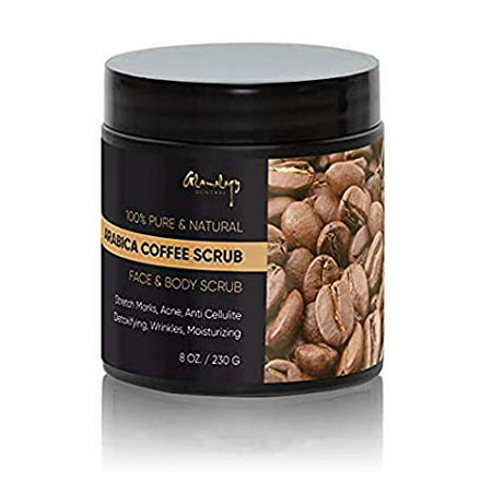 Glamology 100% Pure Arabica Coffee Scrub With Organic Coffee, Almond, Coconut – Best for Stretch Marks Treatment, Acne, Anti Cellulite and Varicose Veins 8 (Best Treatment For Broken Veins On Face)