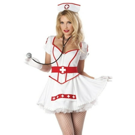 White Nurse Heart Breaker Costume California Costume Collections 01169 - Nurse Costumes For Adults