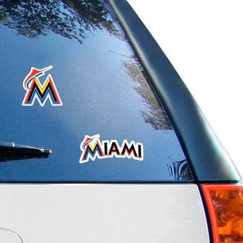 WinCraft Miami Marlins 2-Pack Ultra Decals - No Size