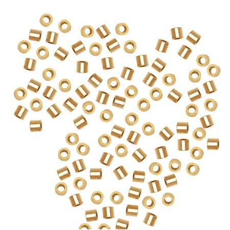 14K Gold Filled Crimp Beads 1 x 1mm (50) 14k Gold Filled Beads
