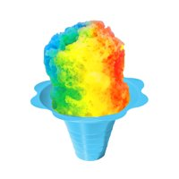 Medium Shaved Ice Sno Cone Flower Cups (8 OZ) 1000 Count Blue