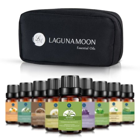 Essential Oils Set,Aromatherapy 10 Essential Oils Set- Chamomile Sandalwood Lavender Tea Tree Peppermint Eucalyptus Lemongrass Vetiver Jasmine Orange Therapeutic (Vetivert Essential Oil)