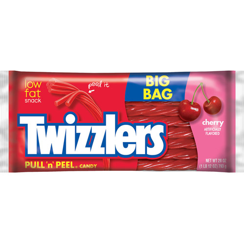 Twizzlers Cherry Pull-N-Peel Candy, 28 oz