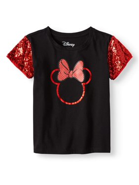 42981f9b Product Image Minnie Sequin Sleeve Graphic T-Shirt (Little Girls & Big  Girls)