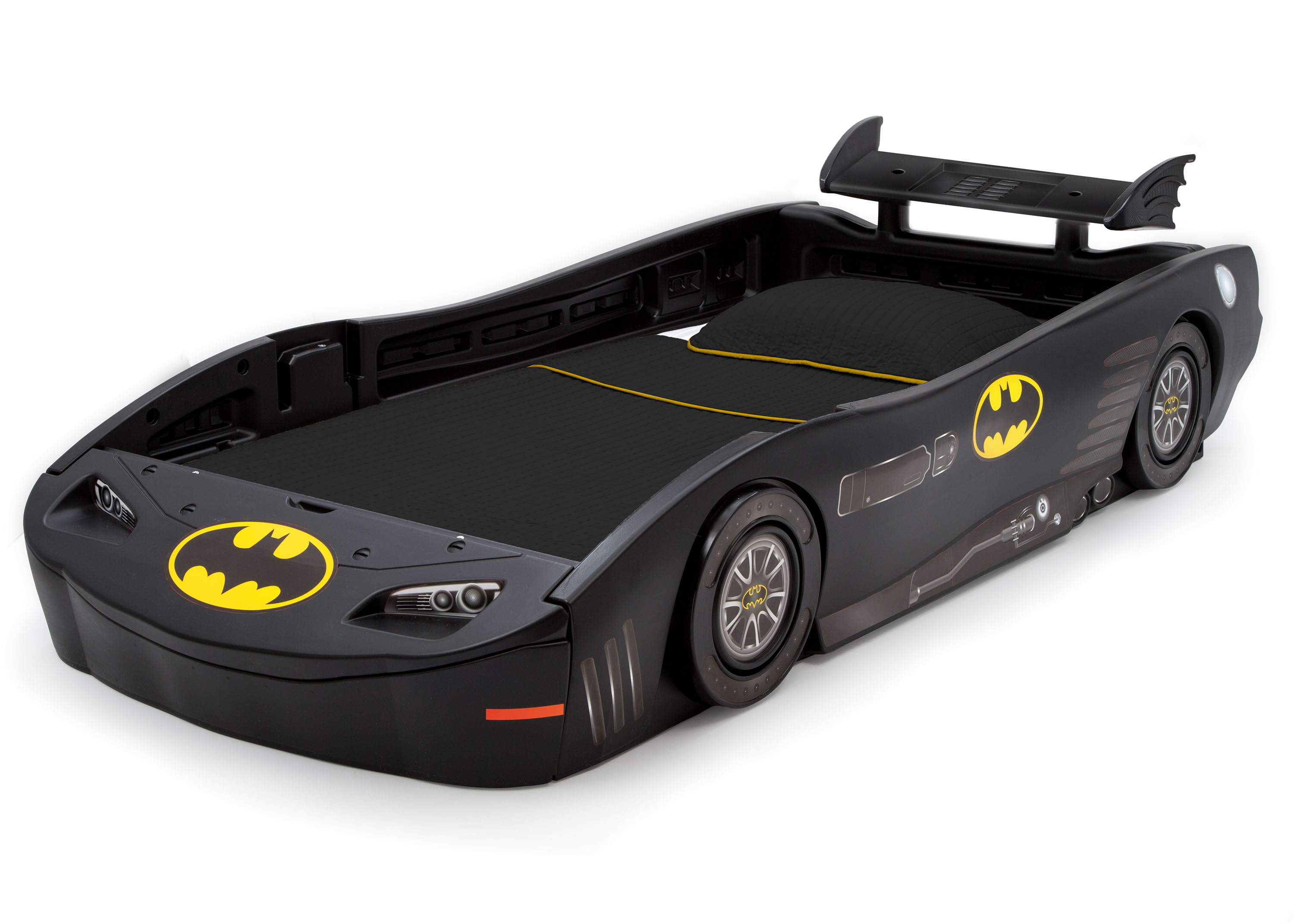 Delta Children Dc Comics Batman Batmobile Car Plastic Twin Bed Black Walmart Com Walmart Com