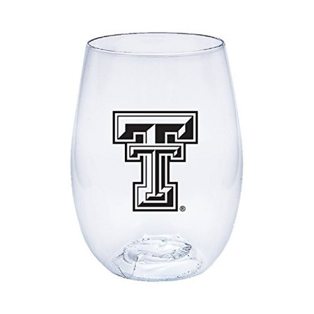 Texas Tech Govino Shatterproof Wine or Beverage Glasses - Boxed set of 4