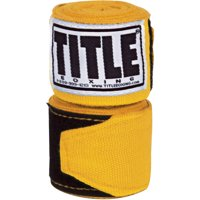 "Title Boxing 120"" Semi Elastic Handwraps - Gold"